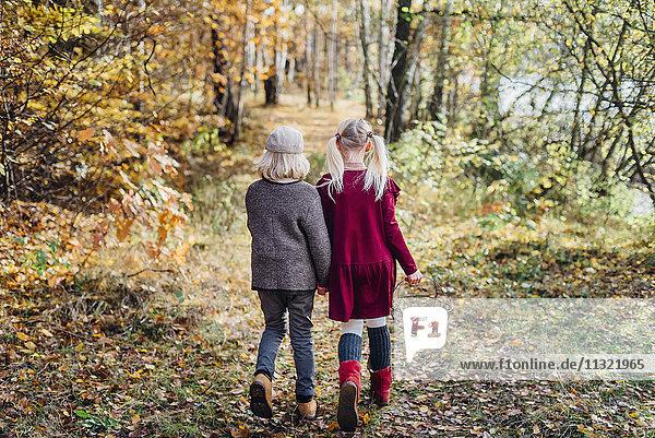 Hänsel und Gretel  Junge und Mädchen allein im Wald unterwegs