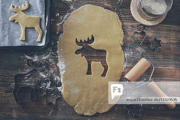 Weihnachtsbäckerei  Nahaufnahme