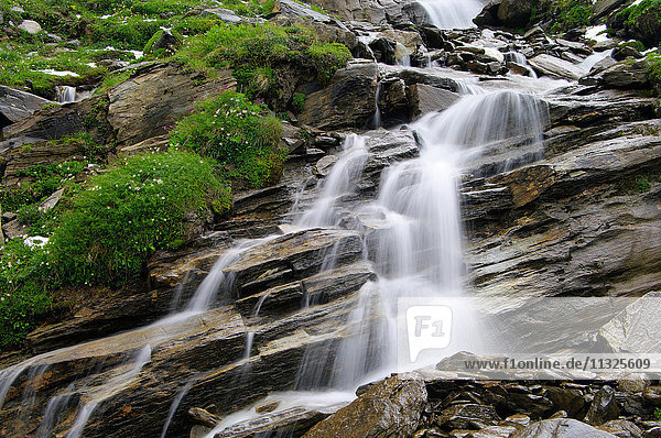 Waterfall at the Grossglockner in the High Tauern National Park