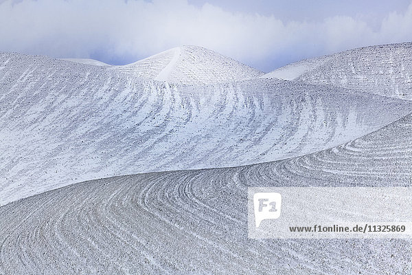 rolling hills in Palouse  Washington State  in winter