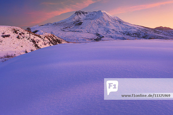 Mount St. Helens in winter in Washington State
