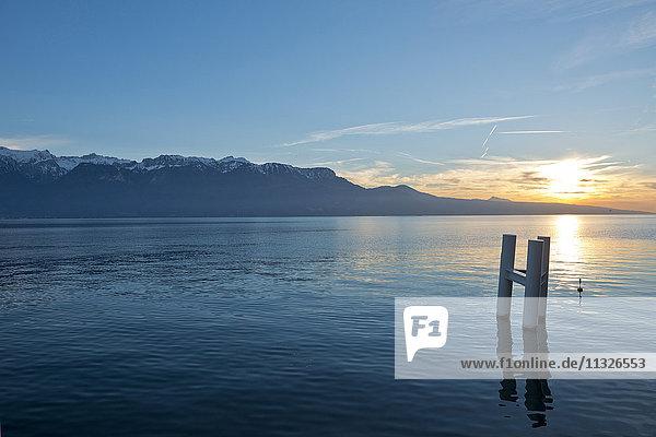 Lake Geneva at sunset