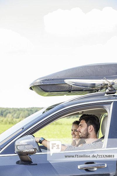 Paarfahrwagen mit Dachgepäckträger