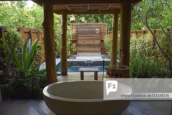 wellness area  hotel resort on Seychelles  Africa