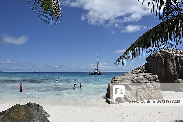beach in La Digue  Seychelles
