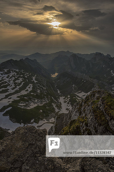sunrise from Mount Saentis in Appenzell