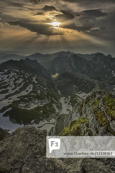 sunset from Mount Saentis in Appenzell