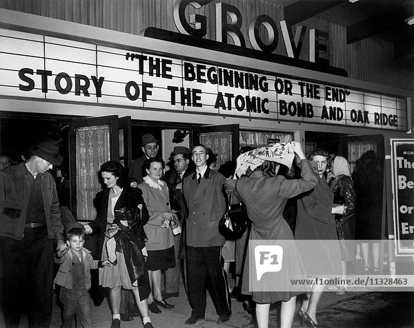 'Oak Ridge's Grove Theater shows ''The Beginning or The End''. '