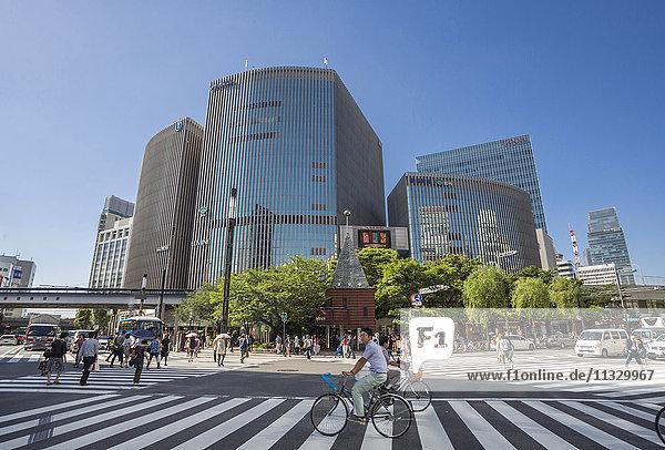 Harumi Avenue in Tokyo City