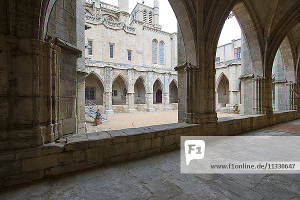 cathedral Saint Nazaire courtyard in Béziers  France