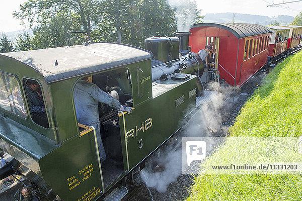 Steam train in Wienacht  canton Apenzell