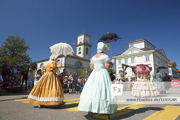 Biedermeier festival in Heiden  canton Apenzell