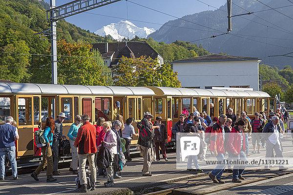 Schynige Platte mountain railroad in the Bernese Oberland