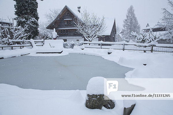 Thal village in the canton of St. Gall in winter