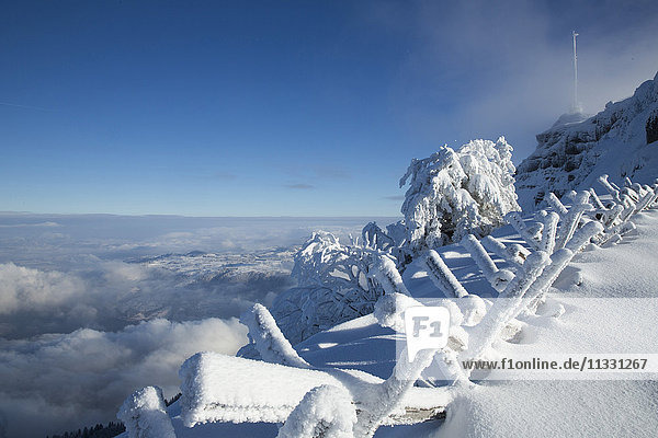 Look from Rigi mountain in Central Switzerland