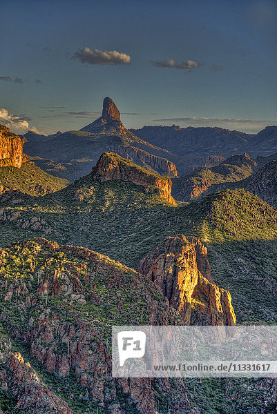 weaver's needle in the superstition mountains  Arizona