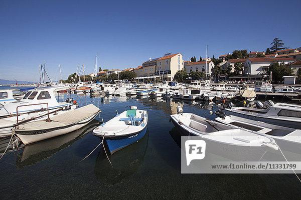 The harbour of Malinska  Krk island  Croatia  Kvarner bay  Adria