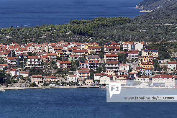 View to port Cres  island of Cres  Croatia  Kvarner bay