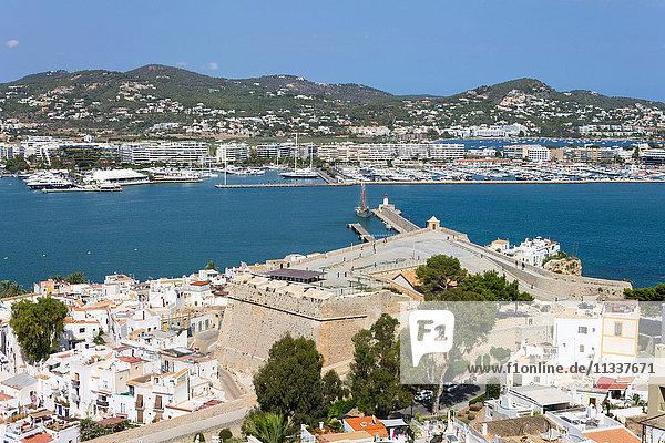 Spain  Balearic Islands  Ibiza  Eivissa  old town Dalt Vila