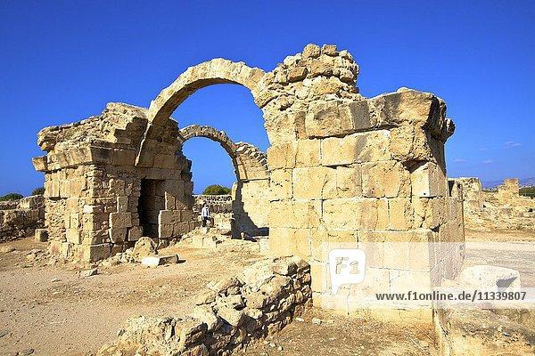 Saranda Kolones  Kato Paphos Archaeological Park  UNESCO World Heritage Site  Paphos  Cyprus  Eastern Mediterranean  Europe