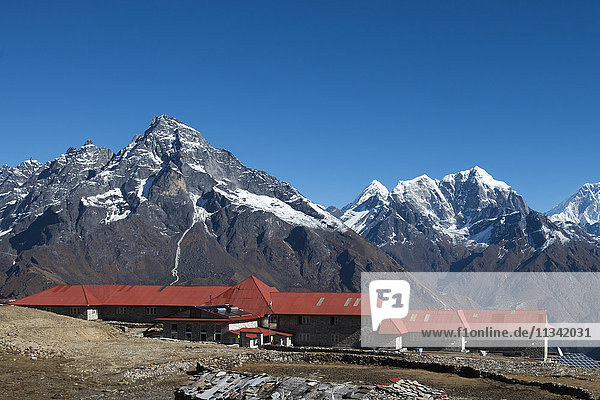 A lodge at Kongde in Everest region  Khumbu Region  Himalayas  Nepal  Asia