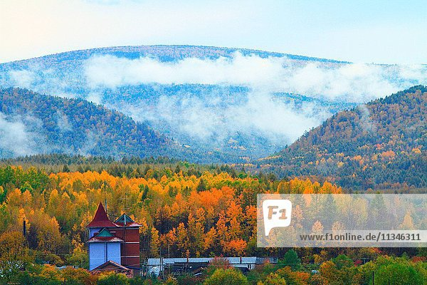 Greater Khingan Range autumn Heilongjiang Province China