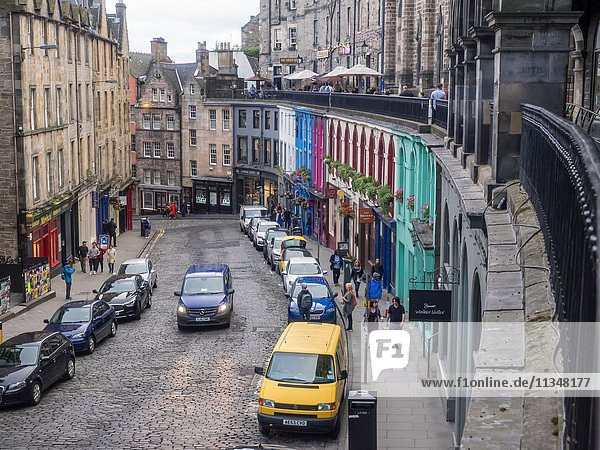 Victoria Street in the Old Town  Edinburgh has to be one of the most photographed locations in the city.