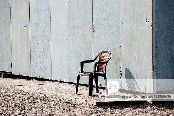 Chair by beach