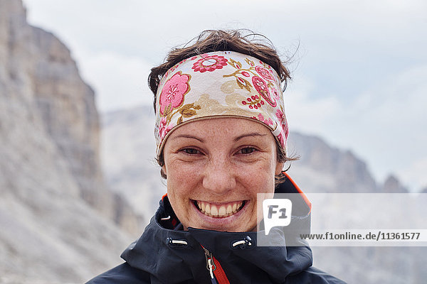 Portrait of hiker looking at camera smiling  Austria