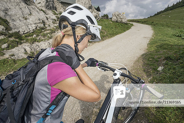 Mountainbiker with neckpain  Kampenwand