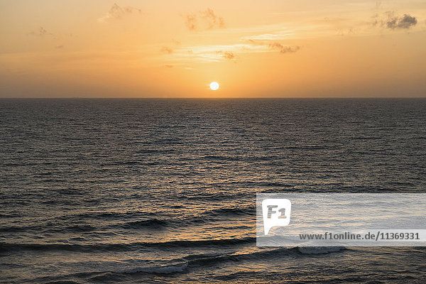 Scenic view of sunset over sea  Western Province  Sri Lanka