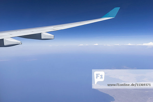 Cropped image of airplane flying above oman and red sea Iran  Oman Cropped image of airplane flying above oman and red sea Iran, Oman