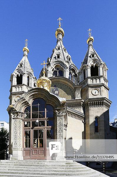 Frankreich  Paris. 8. Bezirk. Orthodoxe Alexander-Newski-Kathedrale.