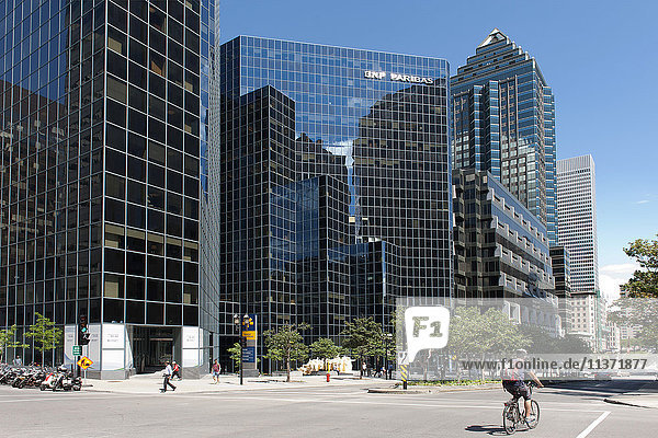 Kanada. Provinz Quebec  Montreal. Das Stadtzentrum. McGill College Avenue. Das BNP Paribas Gebäude