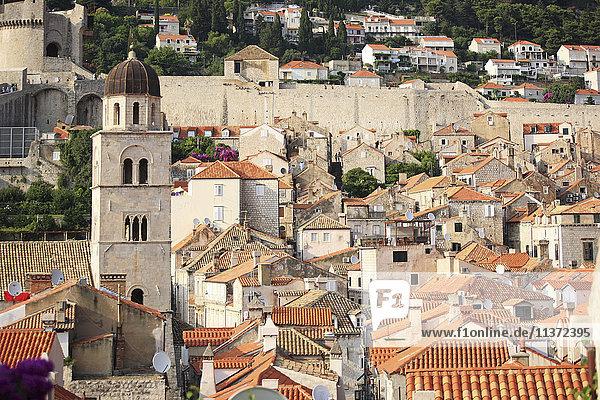 Kroatien  Dubrovnik  Glockenturm des Franziskanerklosters Dubrovnik
