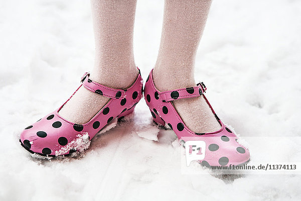 Girl in flamenco shoes