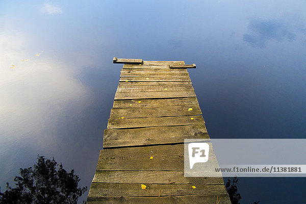 Dock over still lake