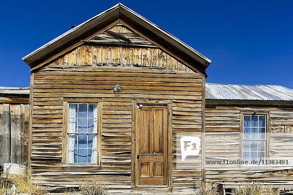 Decrepit rustic wooden building