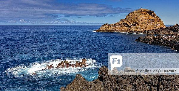 Lavaklippen  Porto Moniz  Madeira  Portugal  Europa