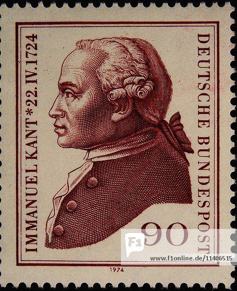 Deutsche Briefmarke  Porträt des Philosophen Immanuel Kant