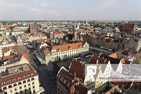 St. Elizabeth's Church  Tower  Skyline  Stare Miasto  Breslau  Wroclaw  Poland  Europe