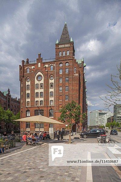 Historischer Speicher  Speicherstadt  Hamburg  Deutschland  Europa