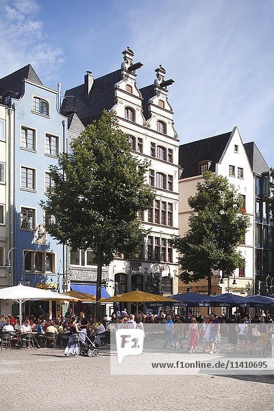 Giebelhäuser  Alter Markt  Gaffelhaus  Altstadt  Köln  Nordrhein-Westfalen  Deutschland  Europa