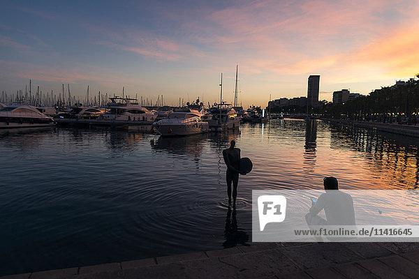 'Alicante´s harbour at sunset; Alicante  Valencia  Spain'