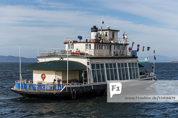 'A historic ferry boat returns to Astoria; Astoria  Oregon  United States of America'