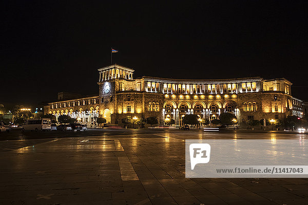 'Republic Square at night; Yerevan  Armenia'
