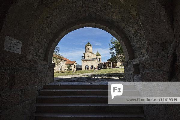 'Bagrati Cathedral  Gelati Monastery  Bell tower of Gelati Monastery; Imereti  Georgia'