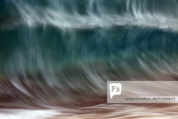 'Blur of the motion of a wave; Hawaii  United States of America'