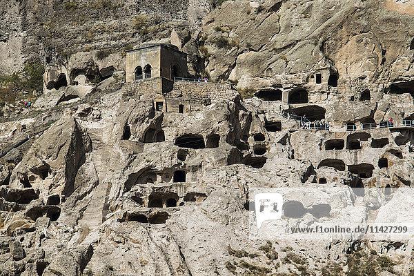 'Cave dwellings in the Vardzia Cave Monastery; Meskhetii  Georgia'