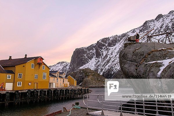 Reine,  Nusfjord,  Lofoten Islands,  Nordland County,  Norway,  Europe